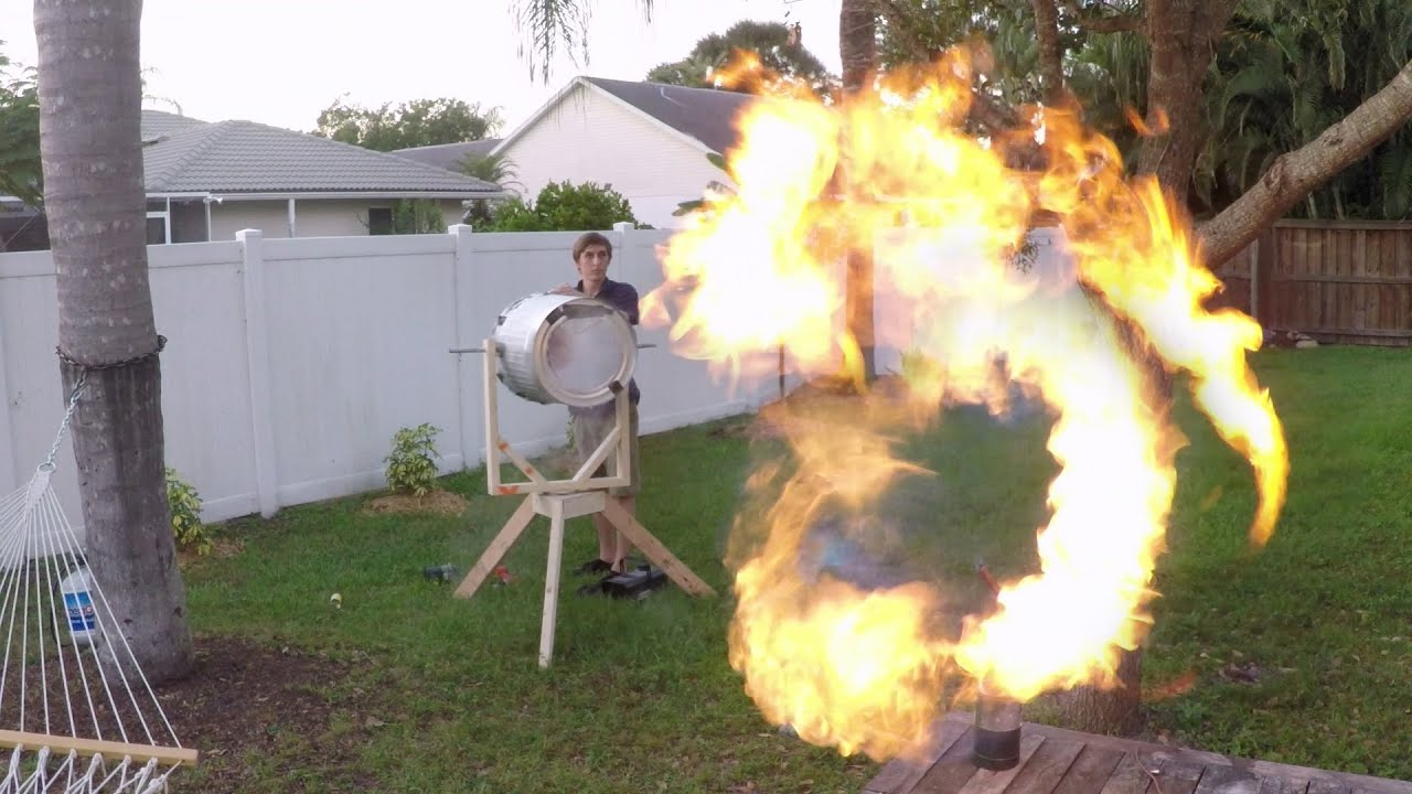 Backyard Scientist Series gopro: fire vortex cannon with the backyard scientist - youtube