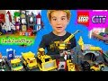 Lego City - Kid Playing with Legos Toys - Mining Vehicles and Trucks