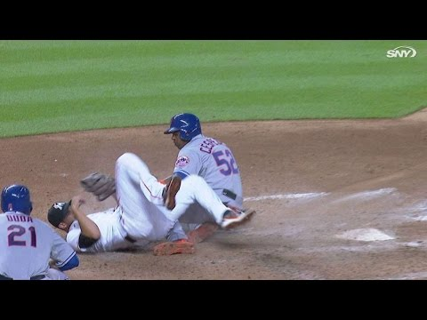 NYM@MIA: Cespedes scores on a wild pitch from Rienzo