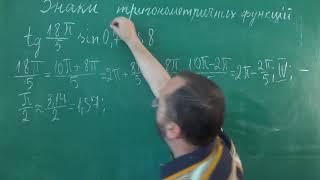 Тема 4 Урок 2 Знаки тригонометричних функцій Приклад 1 - Алгебра 10 клас