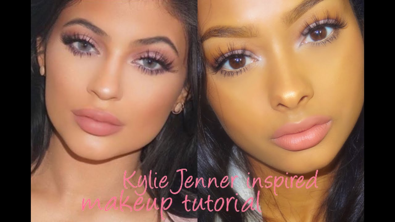 Soft pink glam kylie Jenner inspired makeup tutorial ...