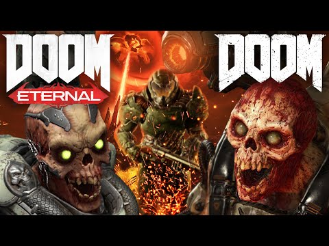 [СРАВНЕНИЕ] DOOM VS DOOM Eternal (ENEMIES COMPARISON)