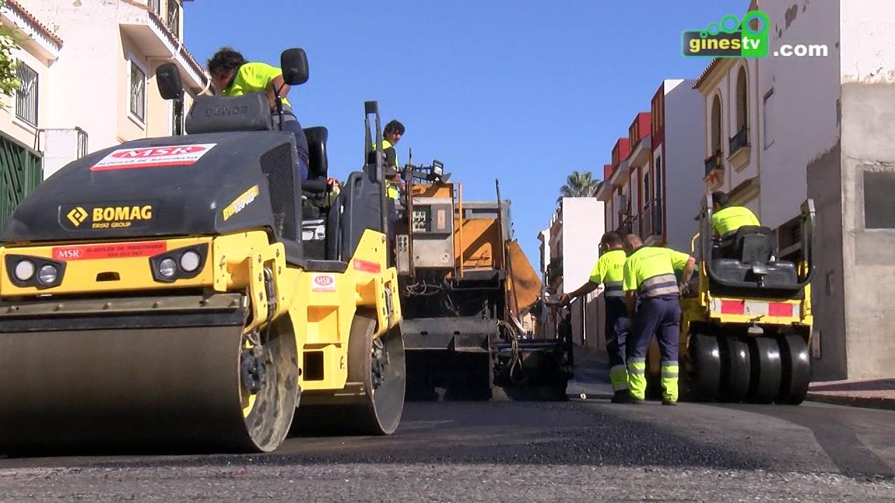 Gines inicia un Plan Municipal de Asfaltado que beneficiará a una treintena de calles