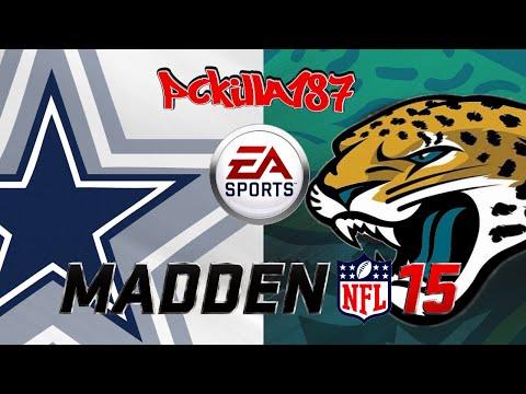 Madden 15 Cowboys vs Jaguars Full Game PS3 Gameplay Uncut Raw Video