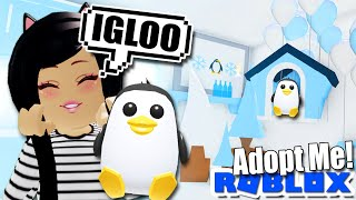 I Built an ❄️ICE IGLOO❄️ for my PENGUIN in ADOPT ME! Roblox Update Tour