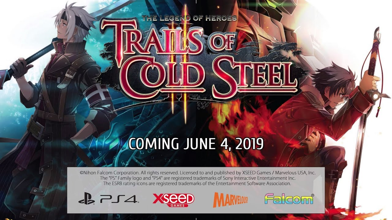 The Legend of Heroes: Trails of Cold Steel II for PS4 launches June
