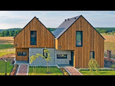 Oglądamy mały dom 45 m2 - projekt i wnętrze. Ile kosztuje mikro dom? Budowa małego domu 2018