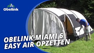 Obelink Miami 6 Easy Air - Opbouwinstructie - Hoe zet ik een opblaasbare tent op? I Obelink