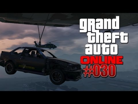 Let's Play GTA 5 / ONLINE #030 - Hängend am Cargobob & Privat-Jet in Los Santos