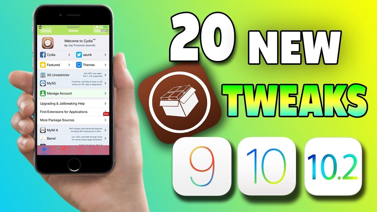 Top 20 New Cydia Tweaks IOS 9 - 10 - 10 1 1 - 10 2 Jailbreak