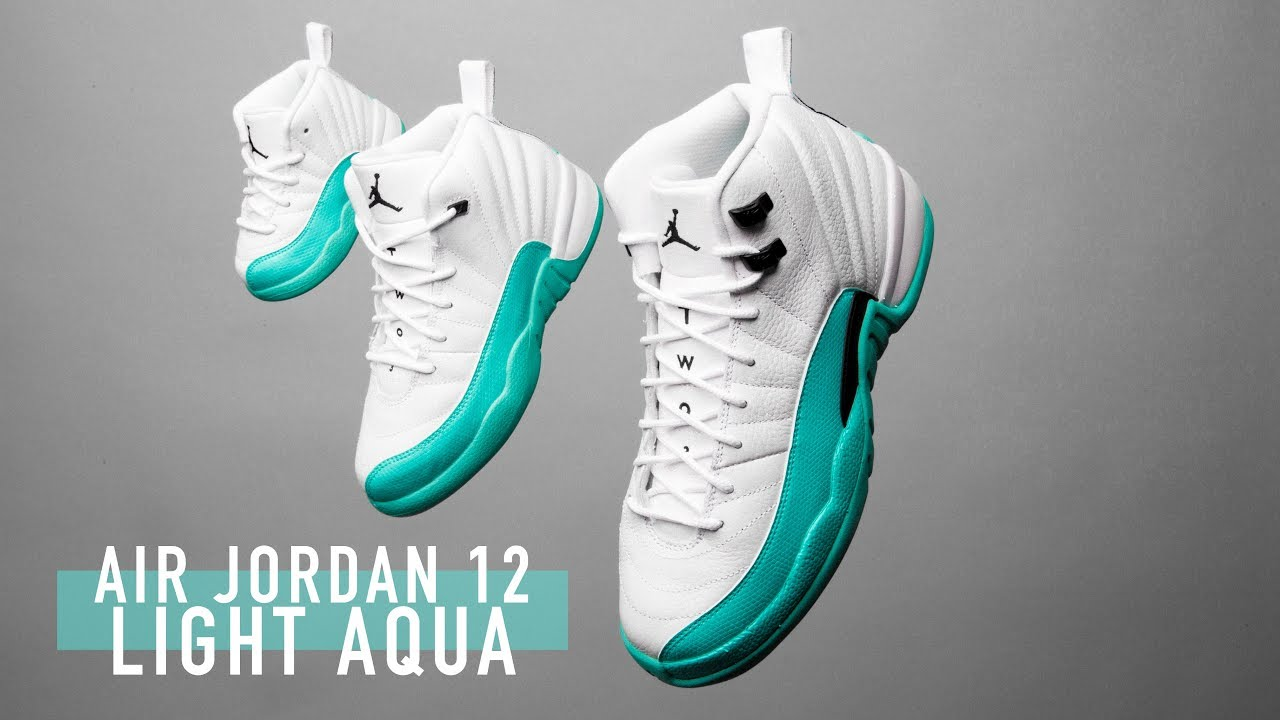 new product d1979 3c494 FIRST LOOK: Air Jordan 12 'Light Aqua' |SHIEKH