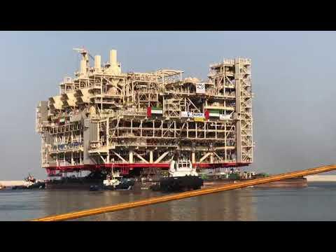 World Biggest Offshore oil platform in abudhabi