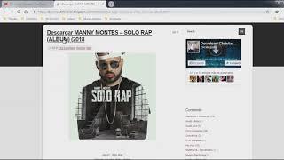 Descargar Album MANNY MONTES – SOLO RAP (ALBUM) 2018