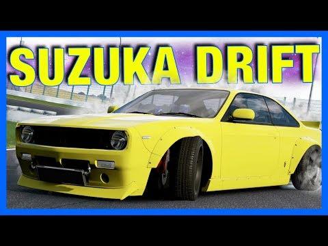 Forza Motorsport 7 Customization : WIDEBODY NISSAN S14 DRIFTING AT SUZUKA!!
