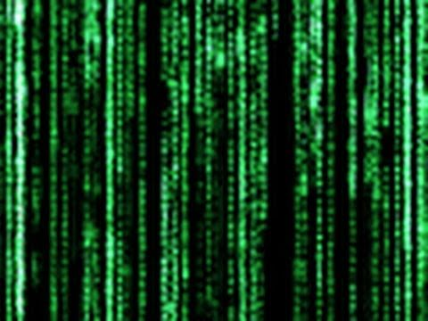 Matrix text effect photoshop lady.