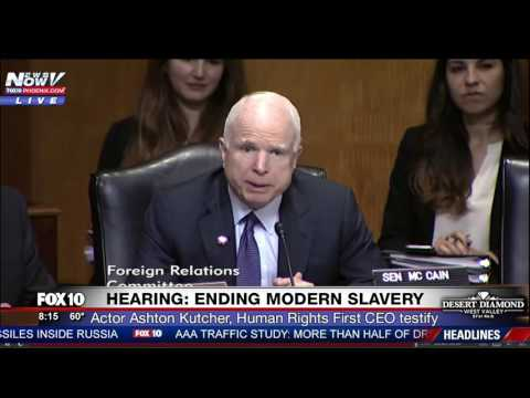 "WATCH: Sen. McCain Tells Ashton Kutcher ""You Were Better Looking in the Movies"" at Senate Hearing"
