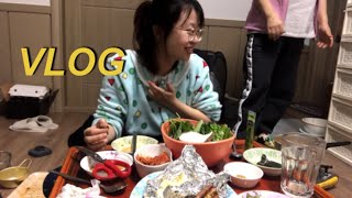 일상 브이로그 | 가족들과 함께 집에서 즐기는 홈바베큐…