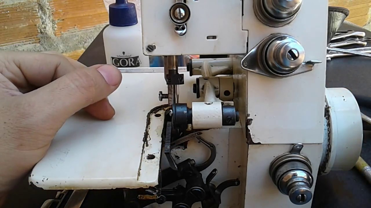 Overlock casera. ajuste del ancora IZQUIERDO | mecanica