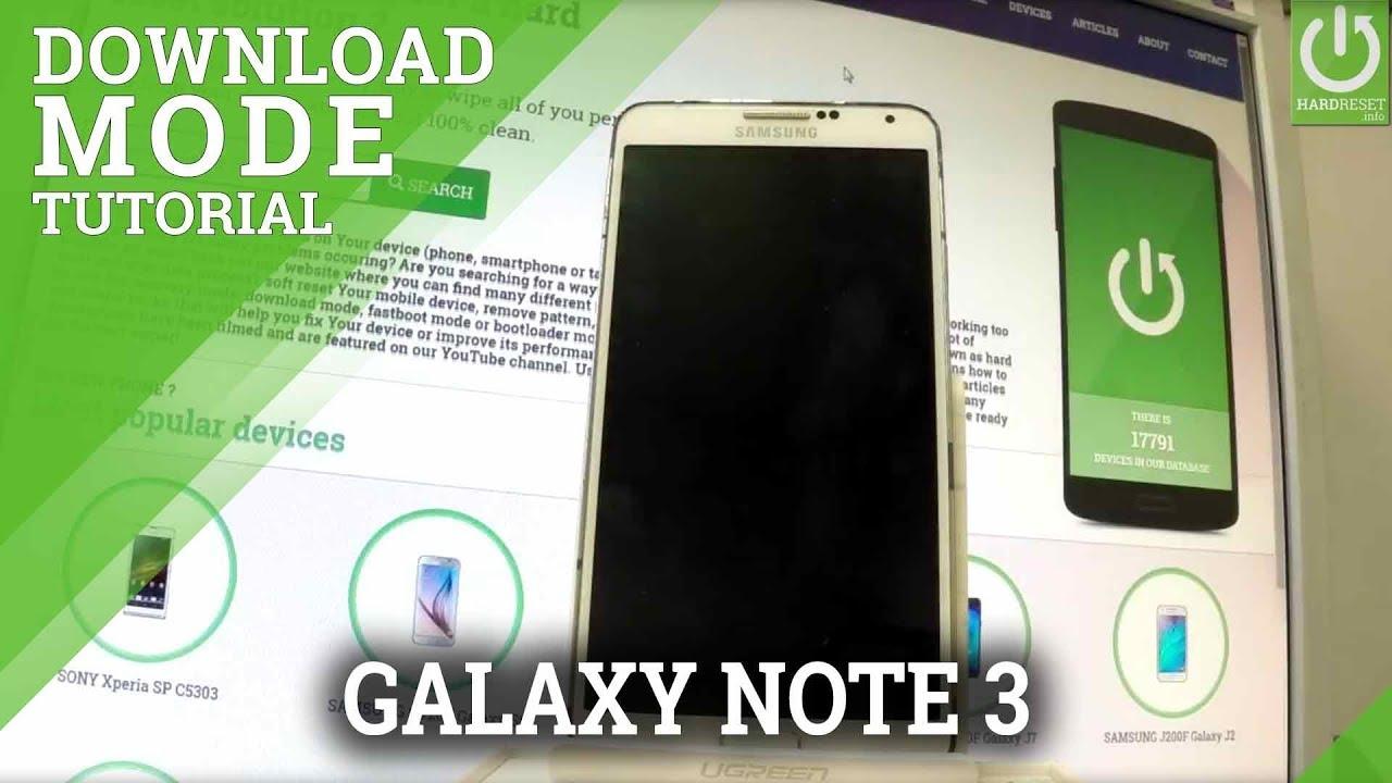 Download Mode SAMSUNG Galaxy Note 3 Neo 3G - HardReset info