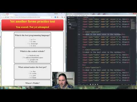 How To Program HTML Web Forms Radio Buttons With Javascript And CSS