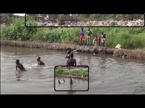 À POINTE-NOIRE LA POPULATION SE LAVE DANS DES RIVIÈRES INSALUBRES, OUPS LE CONGO !