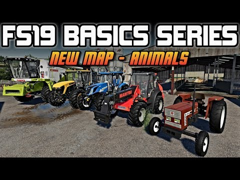 STARTING A NEW MAP - EQUIPMENT FOR ANIMALS! | FARMING SIMULATOR 19