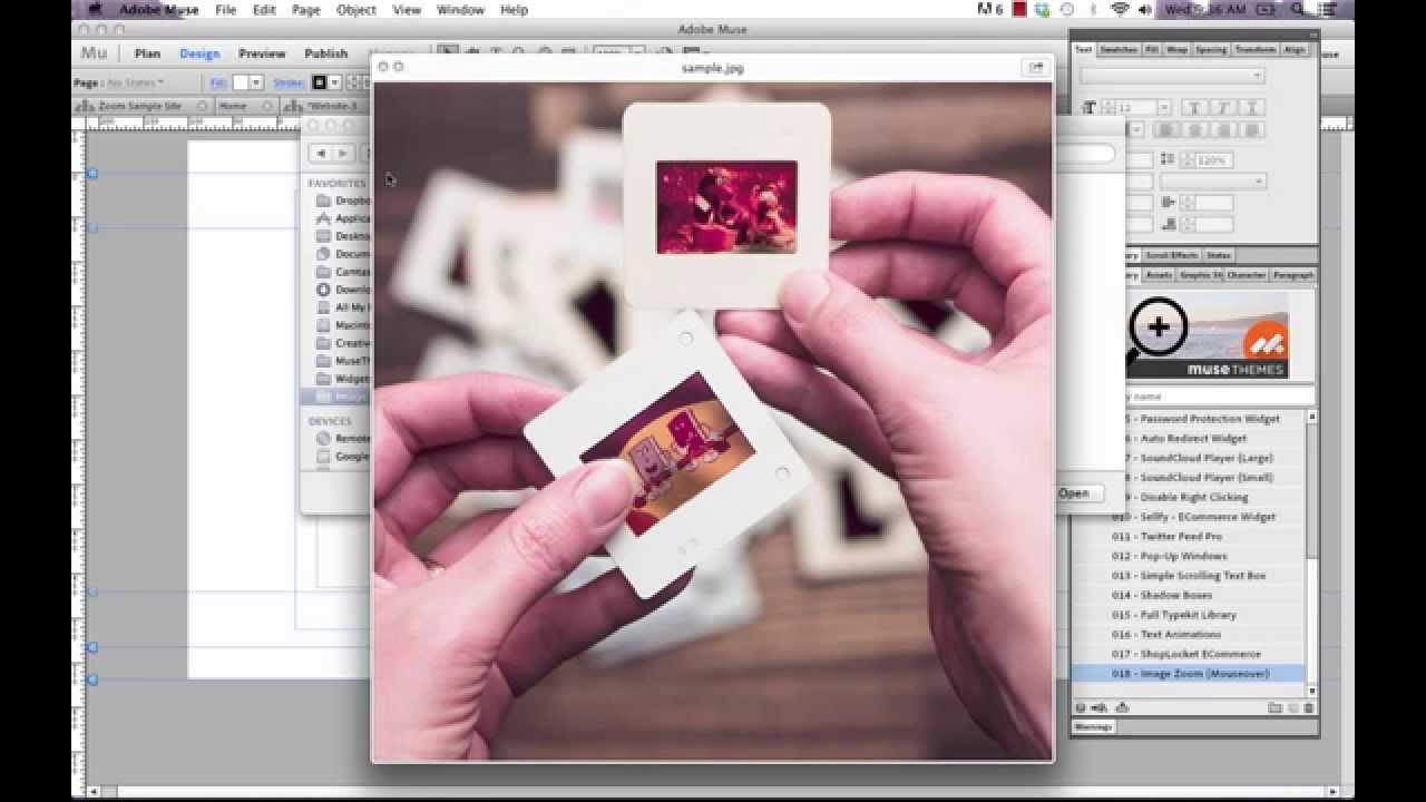 Photo Zoom Widget in Adobe Muse - Tips & Tricks by MuseThemes com