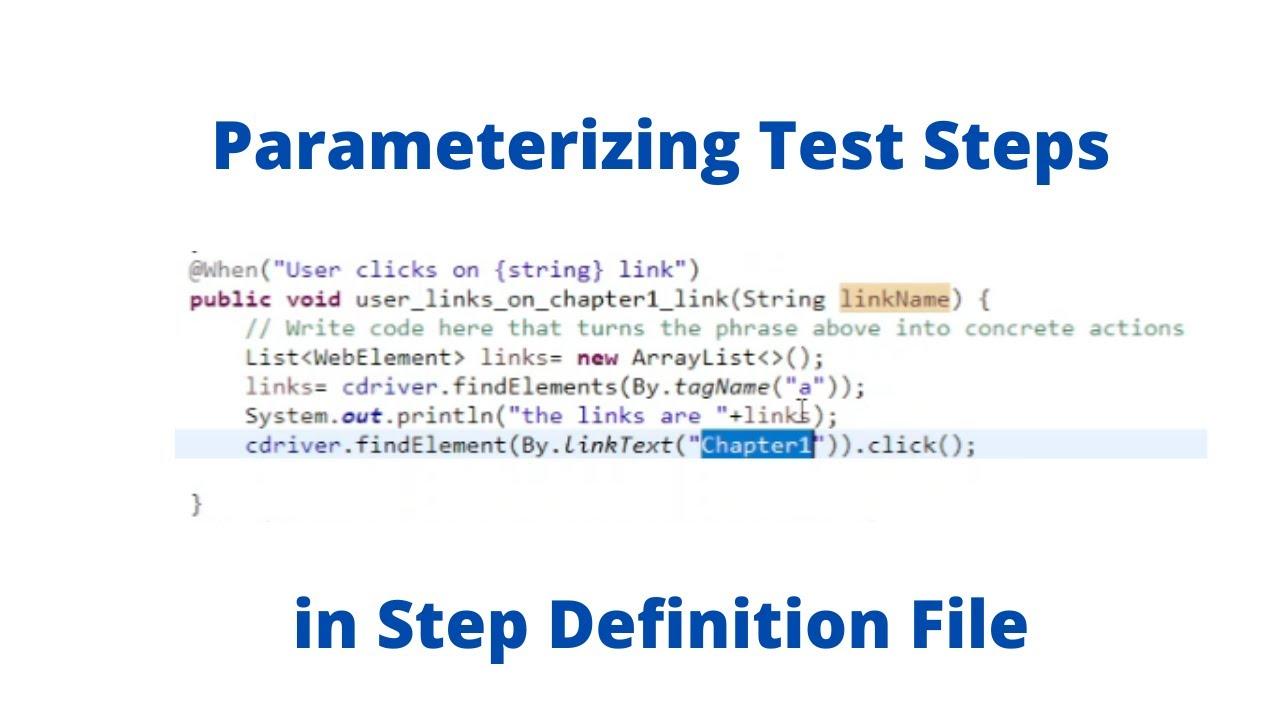 Download Develop BDD Automation Framework from Scratch   Selenium Java   parameterizing Test Steps #BDD