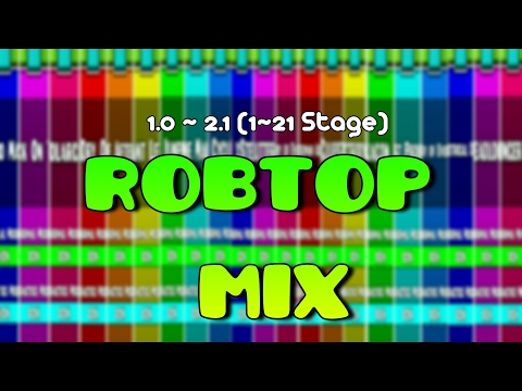 ROBTOP LEVEL MIX (1.0 ~.2.1) | GEOMETRY DASH OFFICIAL LEVEL 1~21 : Level mix of RobTop - ItsHermar