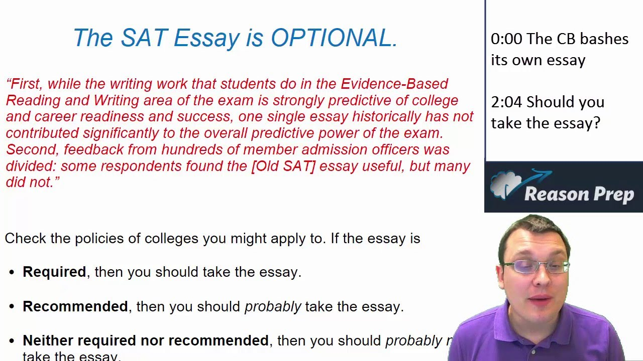 How long should the essay be on the SAT?