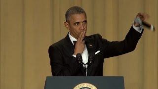 Obama brinca e ironiza em jantar