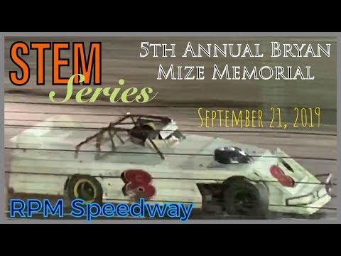 RPM Speedway - STEM Series - 5th Annual Bryan Mize Memorial - September 21, 2019