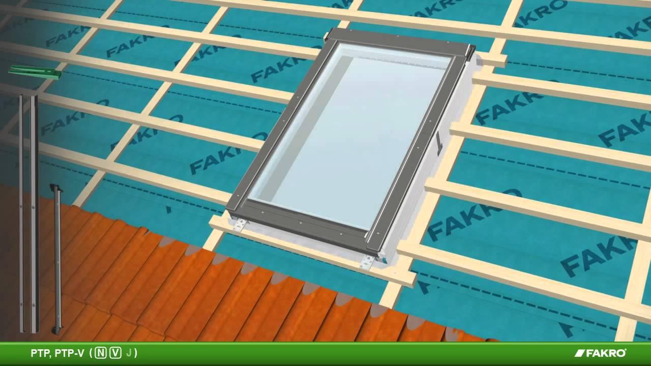 Пластиковое мансардное окно fakro ptp, ptp-v - youtube.