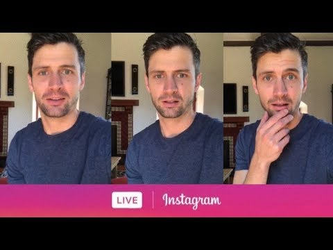 James Lafferty from One Tree Hill via Instagram Live. July 26, 2018