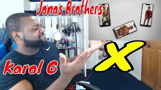 Jonas Brothers ft  KAROL G - X (Official Video) Reaction