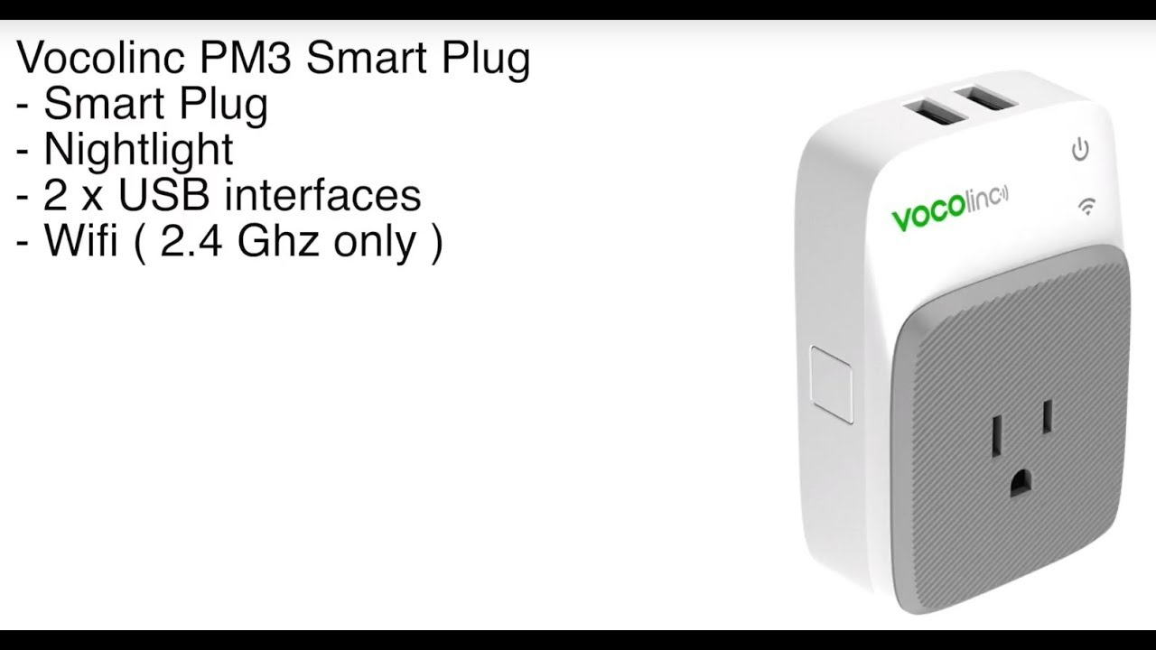 Vocolinc PM3 Smart Plug plus USB with Apple Homekit