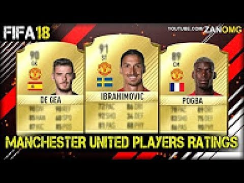 FIFA 18 | MANCHESTER UNITED ALL PLAYERS RATINGS PREDICTION | FT. DE GEA, IBRAHIMOVIC