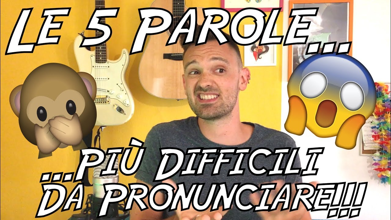 Le 5 parole più difficili da pronunciare in inglese! - YouTube