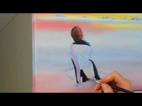 """Time lapse oil Painting landscape """"Contemplation"""""""