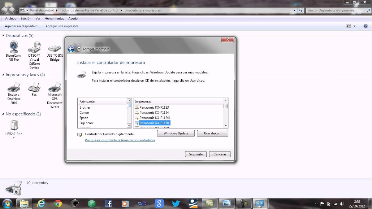 Descarga de controladores panasonic multi function printer kx.