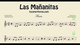 Las Mañanitas Partitura de Flauta