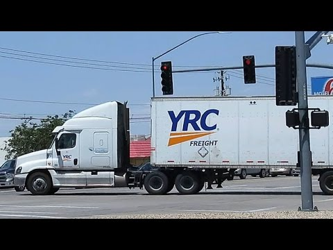 YRC Freight Truck with Double Trailers Spotted ~ Trucking