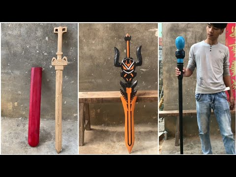 Art Of Crafting – Bring Weapons From Games To Real Life – Wood Carving