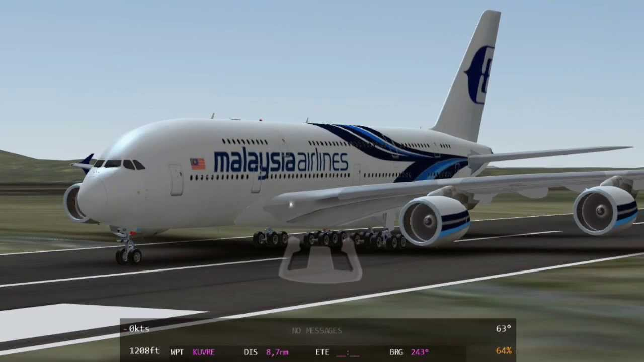 Iphone Default Wallpaper Infinite Flight Airbus A380 800 Malaysia Airlines Hd