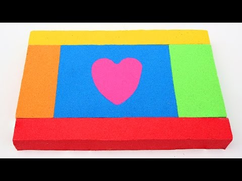 Thumbnail: DIY Kinetic Sand Kids Block With Love Heart Hello Kitty Kinetic Sand Learn Colors
