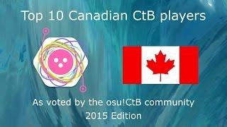 Top 10 Canada Osu!CtB players - 2015 Edition