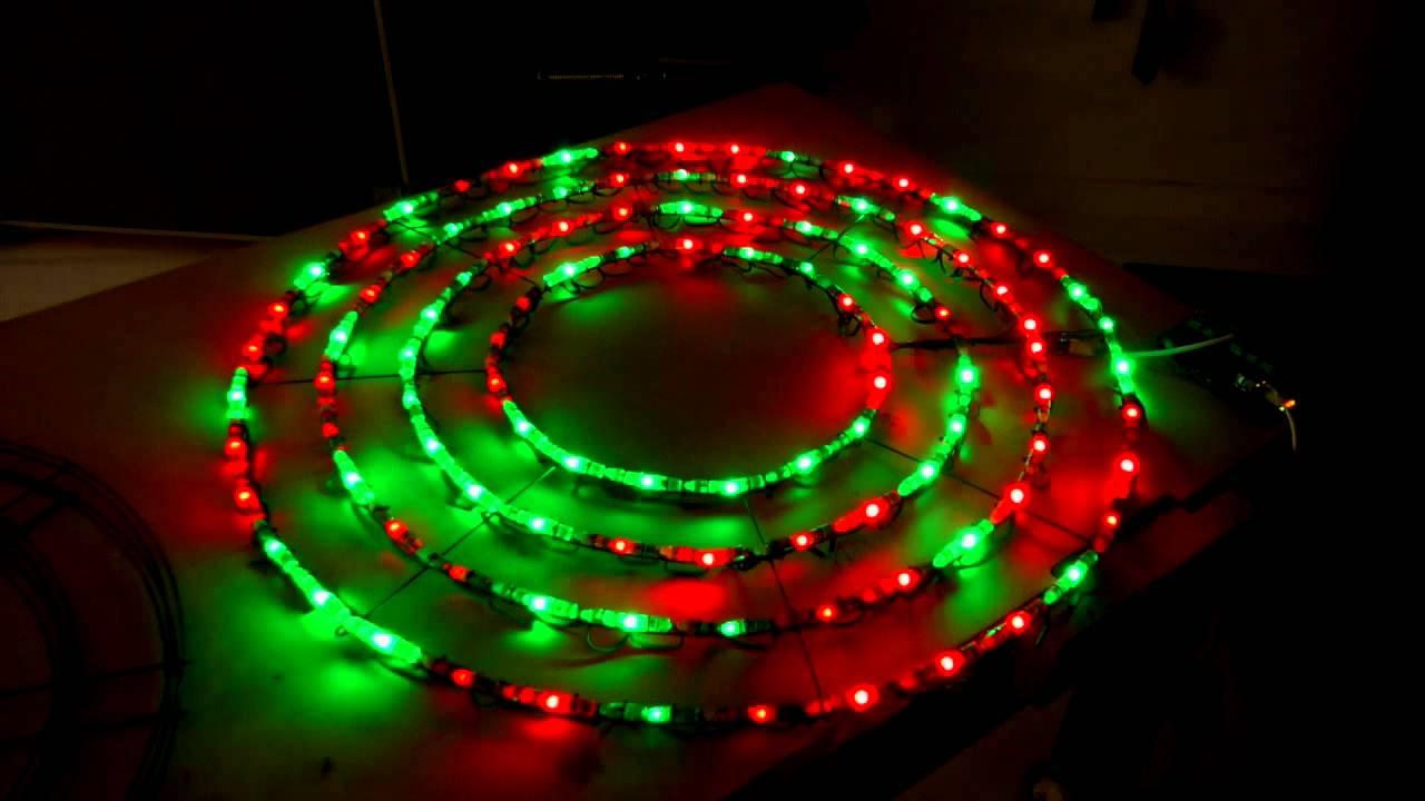 2015 christmas light show new element sneak peek pixel wreath