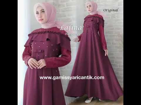 Model Baju Gamis Pesta Mewah Dan Elegan Terbaru 2019 081213381472