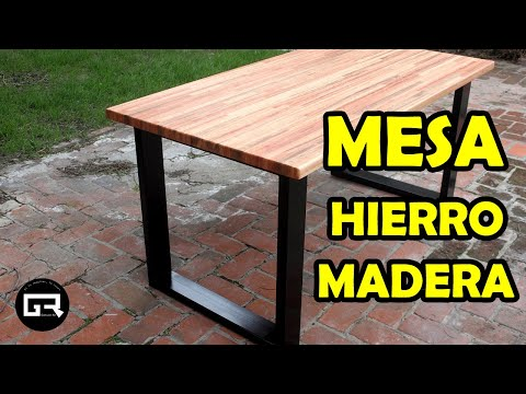 Mesa Industrial Hierro Y Madera Table Industrial Style