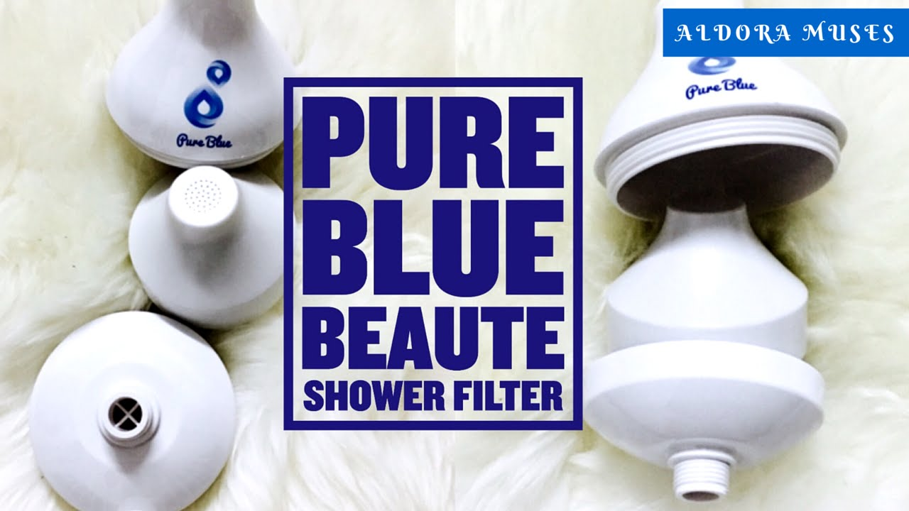 review pure blue beaut shower filter by aldora muses youtube. Black Bedroom Furniture Sets. Home Design Ideas
